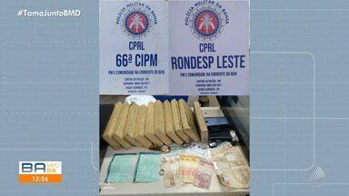 Servidor da prefeitura de Santo Estévão é preso transportando maconha em carro oficial - Ele foi encontrado com 10 tabletes da droga.