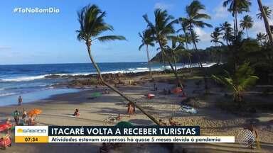 Itacaré, no sul da Bahia, reabre para o turismo - Atividades na região são retomadas após cinco meses de pandemia.