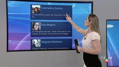 Público participa do Link Vanguarda - Mensagens são enviadas pelas redes sociais.