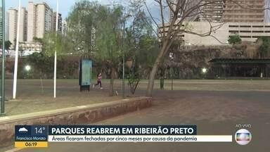 Parques reabrem em Ribeirão Preto - Áreas ficaram fechadas por cinco meses por causa da pandemia.