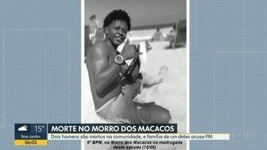 Polícia investiga morte de dois homens durante tiroteio em Vila Isabel - Mortes aconteceram no Morro dos Macacos. Família de Caio Gabriel, de 20 anos, diz que ele era inocente e acusa a Polícia Militar pela morte do jovem