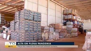 Preços dos materiais de construção aumentaram durante a pandemia - Preços dos materiais de construção aumentaram durante a pandemia
