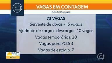 Veja as vagas do Balcão do Bom Dia Minas - Sine de Contagem tem 15 vagas para servente de pedreiro.