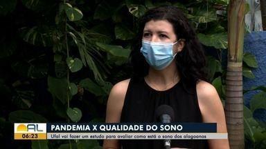 Pesquisa da Ufal quer saber como está o sono das pessoas com a pandemia - Ricardo Amaral tem os detalhes.