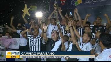 Treze encerra jejum de nove anos e conquista o título do Campeonato Paraibano de 2020 - Gelo perde para o Campinense na final, mas leva a melhor no placar agregado e fica com a taça.