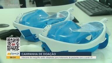 Campanha pede doação de máscaras de mergulho para ajudar a tratar pacientes com Covid-19 - Campanha pede doação de máscaras de mergulho para ajudar a tratar pacientes com Covid-19