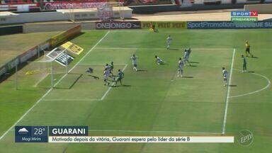 Guarani inicia semana em paz após vencer o Botafogo em Ribeirão Preto - Com gol de Todinho, Bugre ganhou do Pantera por um a zero e garantiu a primeira vitória na Série B do Brasileirão.