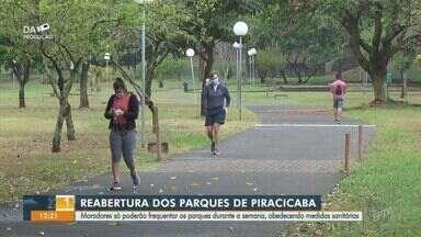 Coronavírus: parques de Piracicaba reabrem com restrições - Moradores podem frequentar os parques durante a semana somente e devem obedecer as medidas sanitárias para evitar o avanço da Covid-19.