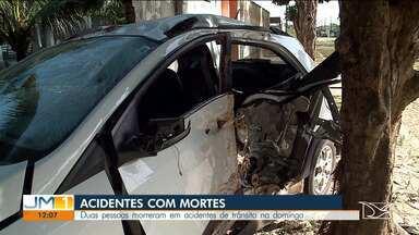 Duas pessoas morrem em acidente de trânsito no domingo (16) em São José de Ribamar - Acidente foi por volta das 22h.