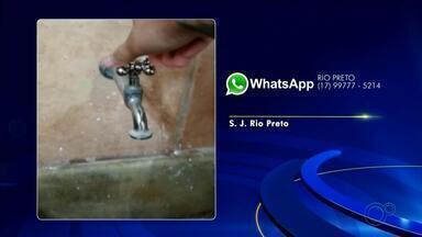 Morador de bairro de Rio Preto reclama da falta de água - Morador de bairro de Rio Preto reclama da falta de água nesta segunda-feira (17).