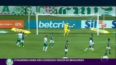 Palmeiras fica no 1 a 1 com o Goiás e segue sem vencer no Brasileirão - Palmeiras fica no 1 a 1 com o Goiás e segue sem vencer no Brasileirão