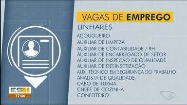 Sine de Linhares, ES, tem vagas de emprego - Veja na reportagem.