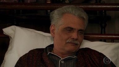 Severo deixa Diana dormir em seu apartamento - A dançarina cuida do pai de Braz e Maria