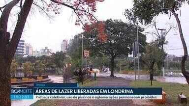 Áreas de lazer estão liberadas em Londrina - Práticas coletivas, uso de piscinas e aglomerações permanecem proibidos