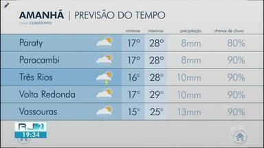 Meteorologia prevê temperaturas mais frias para a terça-feira no Sul do Rio - Dia deverá ser nublado, com possibilidade de chuva em várias cidades da região.