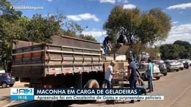 Polícia apreende maconha em carga de geladeiras, em Cocalzinho de Goiás - Apreensão foi em Cocalzinho de Goiás e surpreendeu policiais.