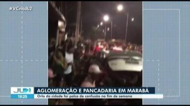 Orla de Marabá registra aglomeração e pancadaria no final de semana - Orla de Marabá registra aglomeração e pancadaria no final de semana