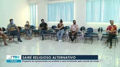 Comitê de Gestão de Crise analisa proposta para realização do Sairé Religioso - Confira.