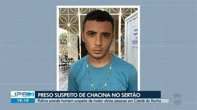 Homem é preso suspeito de chacina no Sertão da Paraíba - Ele é suspeito de matar várias pessoas na cidade de Catolé do Rocha.