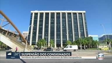 Servidores municipais do Rio não conseguem suspender cobrança de empréstimos consignados - A suspensão da cobrança foi prometida pela Prefeitura do Rio.