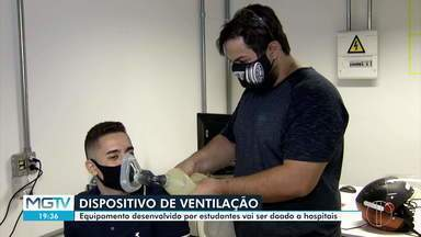 Universitários desenvolvem equipamento que pode ajudar no tratamento da Covid-19 - Equipamento foi desenvolvido por alunos de uma faculdade particular de Montes Claros.