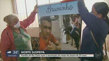 Família de Rio Claro pede a exumação do corpo de jovem enterrado com suspeita de Covid-19 - Bruno Bertanha tinha 22 anos e faleceu no dia 27 de julho.