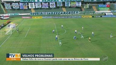 Guarani sofre segunda derrota seguida e de virada, no Brinco de Ouro - Bugre saiu na frente com gol de Bruno Sávio, mas Paraná acordou no segundo tempo e venceu com gols de Bruno Gomes e Jhony Douglas. Veja lances da partida.