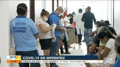 Procura por atendimento no Hospital Macrorregional de Imperatriz ainda é grande - Hospital é referência no tratamento da Covid-19 para mais de 40 municípios da região.