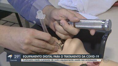 Pesquisadores da UFSCar desenvolvem novo cufômetro para ajudar no tratamento da Covid-19 - Aparelho mede a pressão de outro equipamento usado nas entubações.
