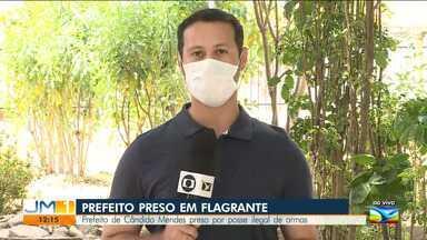 Prefeito de Cândido Mendes é preso por posse ilegal de arma - O repórter Adailton Borba tem mais informações.