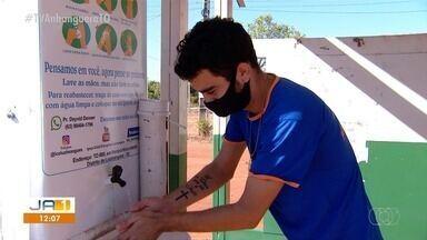 Torneira em ponto de ônibus de Luzimangues contribui no combate ao coronavírus - Torneira em ponto de ônibus de Luzimangues contribui no combate ao coronavírus