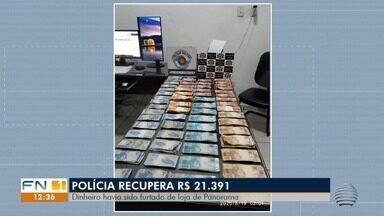 Mais de R$ 21 mil são recuperados de furto em Panorama - Alvo dos ladrões foi uma loja de materiais de construção.
