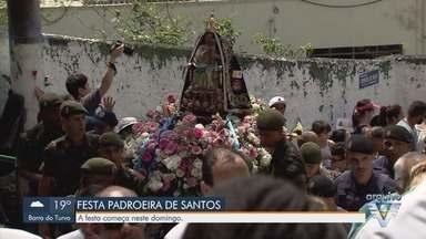 Festa da padroeira de Santos será diferente durante pandemia - Comemoração será virtual, presencial com restrições e carreata.