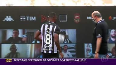 Botafogo X Galo: Pedro Raul se recupera de Covid-19 e deve ser titular hoje no Fogão - Guilherme Arana deve voltar ao time titular do Atlético-MG.