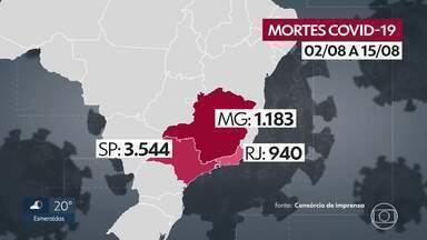 Minas Gerais é o estado com o segundo maior número de mortos pelo coronavírus, em agosto - Especialistas acreditam que os números devem permanecer altos nas próximas semanas.