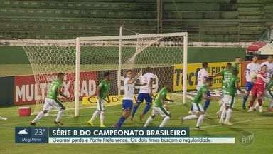 Ponte Preta conquista vitória e Guarani é derrotado pelo Paraná na 4ª rodada da Série B - Tricolor saiu perdendo com gol de Bruno Sávio, mas acordau no segundo tempo e venceu com gols de Bruno Gomes e Jhony Douglas.