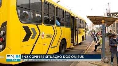 Moradores reclamam de lotação nos ônibus em 'horários de pico' em Presidente Prudente - FN2 confere situação.