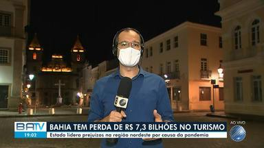 Bahia lidera prejuízos no turismo na região nordeste por causa da pandemia da Covid-19 - Estado teve uma perda de 7,3 bilhões no setor.
