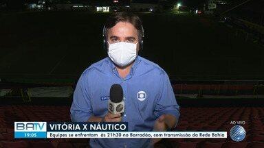 Vitória enfrenta o Náutico na noite desta quarta-feira, no Barradão - Equipes se enfrentam às 21h30, com transmissão da Rede Bahia.