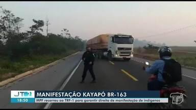 MPF recorre a Tribunal para garantir direito de manifestação de indígenas Kayapó no Pará - Ordem de reintegração de posse da BR-163, onde os índios protestam desde segunda-feira, foi concedida sem intimação do MPF, que tem o dever constitucional de proteger direitos indígenas