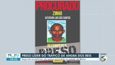 Suspeito de liderar quadrilha de tráfico de drogas é preso em Angra dos Reis - Segundo a polícia, inicialmente, ele estava se escondendo em Simões Filho, na Bahia, mas retornou à cidade da Costa Verde.