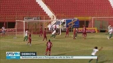 Sertãozinho perde para a Portuguesa na volta da Série A2 do Paulista - Mesmo com os portões fechados por causa da pandemia, teve torcedor que deu um jeito de ver a partida.