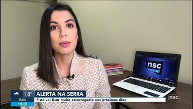 Com onda de frio, estradas na Serra de SC ficarão escorregadias - Com onda de frio, estradas na Serra de SC ficarão escorregadias