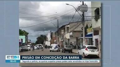 Quatro homens são presos por suposto envolvimento em homicídio em Conceição da Barra, ES - Confira na reportagem.