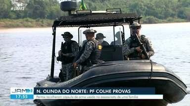 PF colhe provas de assassinatos em Nova Olinda do Norte - Peritos recolheram cápsula de arma de fogo usada no assassinato de uma família