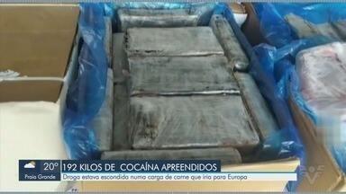 Receita Federal localiza 192 kg de cocaína no Porto de Santos - Droga estava escondida em uma carga de carne que iria para a Europa.