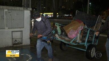 O drama de quem não tem onde passar a noite - Prefeitura da capital intensifica trabalho com sem-teto em dias frios.