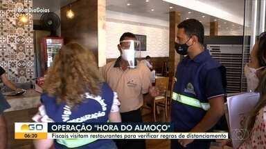 Restaurantes são multados por descumprir medidas de proteção conrta a Covid-19, em Goiânia - Eles são reincidentes nas infrações.Dos 104 estabelecimentos, foram encontradas irregularidades em 53 deles.