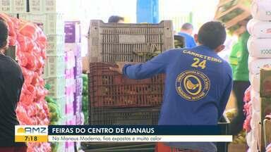 Veja como está a situação das feiras do Centro de Manaus - Em alguns lugares é possível encontrar fios expostos.