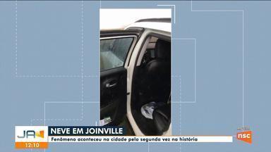 Neve é registrada em Joinville - Neve é registrada em Joinville
